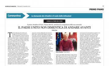 INTERVISTA AL SINDACO 25 NOVEMBRE 2020
