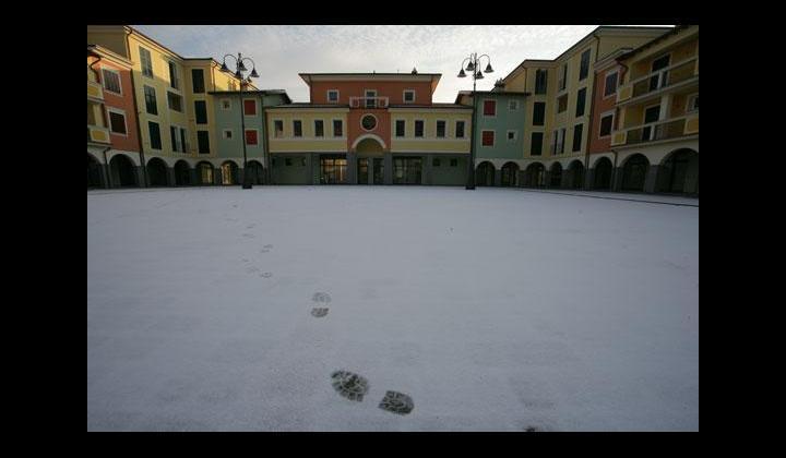 Nuova Piazza con neve