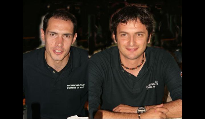 I tecnici Comunali che hanno curato l'esercitazione a destra: Michele Rossetti a sinistra: Stefano Magri