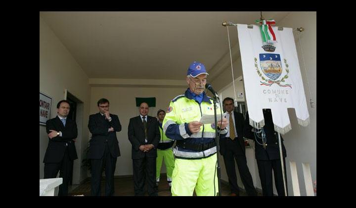 Discorso Coordinatore GCVPC Gustavo Tomasi durante l'inaugurazione
