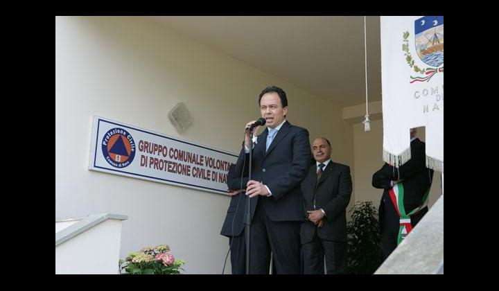 Discorso del Vice Prefetto Naccari durante l'inaugurazione