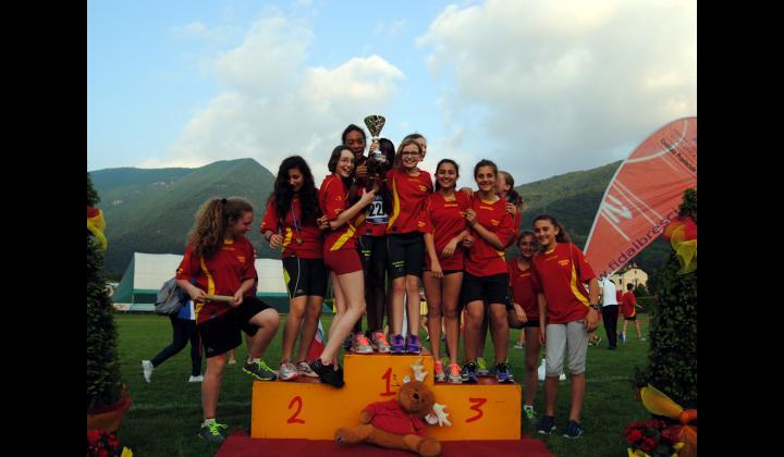 ATLETICA.  Vincitrici del Campionato Provinciale di Società al Memorial Greotti. Audaces Nave - Categoria Ragazze