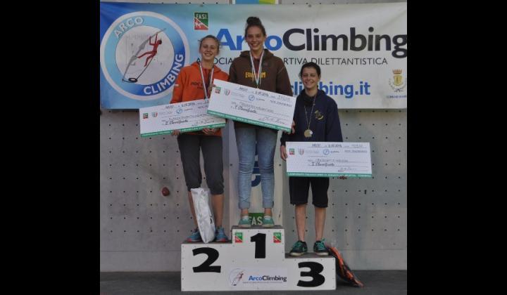 CAMPIONATI ITALIANI 2014 - SPECIALITA' SPEED. 2° posto assoluto per Silvia Porta. Arco (TN) 5 ottobre 2014