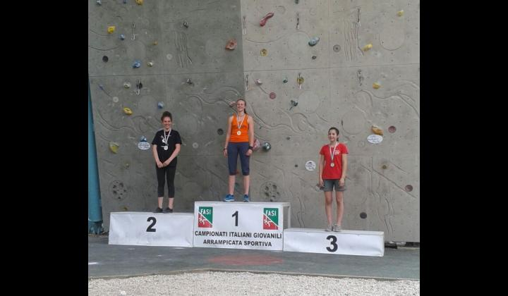 ARRAMPICATA. Silvia Porta - Campionati Italiani  - 1° posto categoria Under 16 specialità Speed