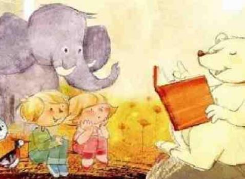 Letture per bambini in biblioteca