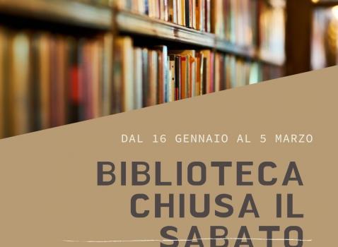Sabato biblioteca chiusa