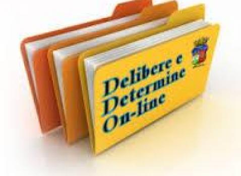 delibere e determine pubblicate